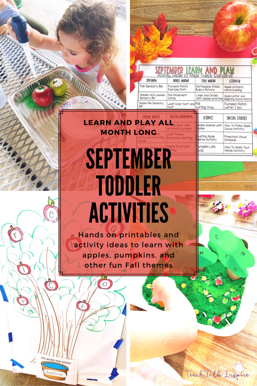 Toddler Activities for September
