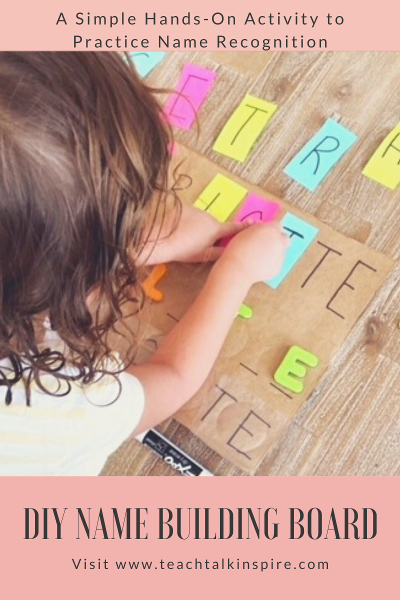 DIY Name Recognition Activity for Preschoolers