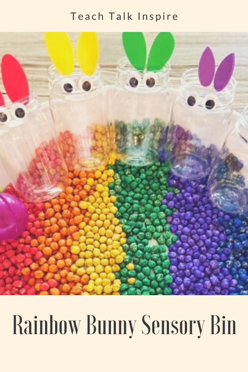 Rainbow Bunnies Sensory Bin