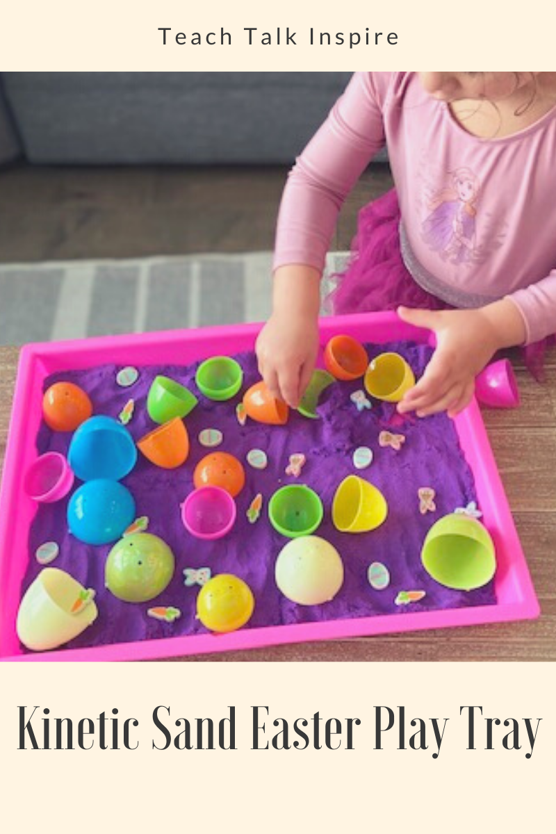 Kinetic Sand Easter Play Tray