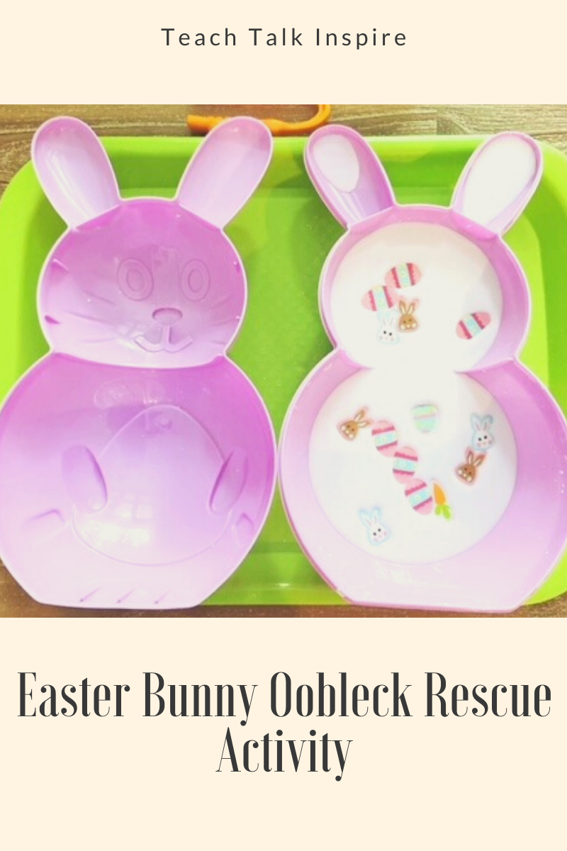 Easter Bunny Oobleck Rescue Activity