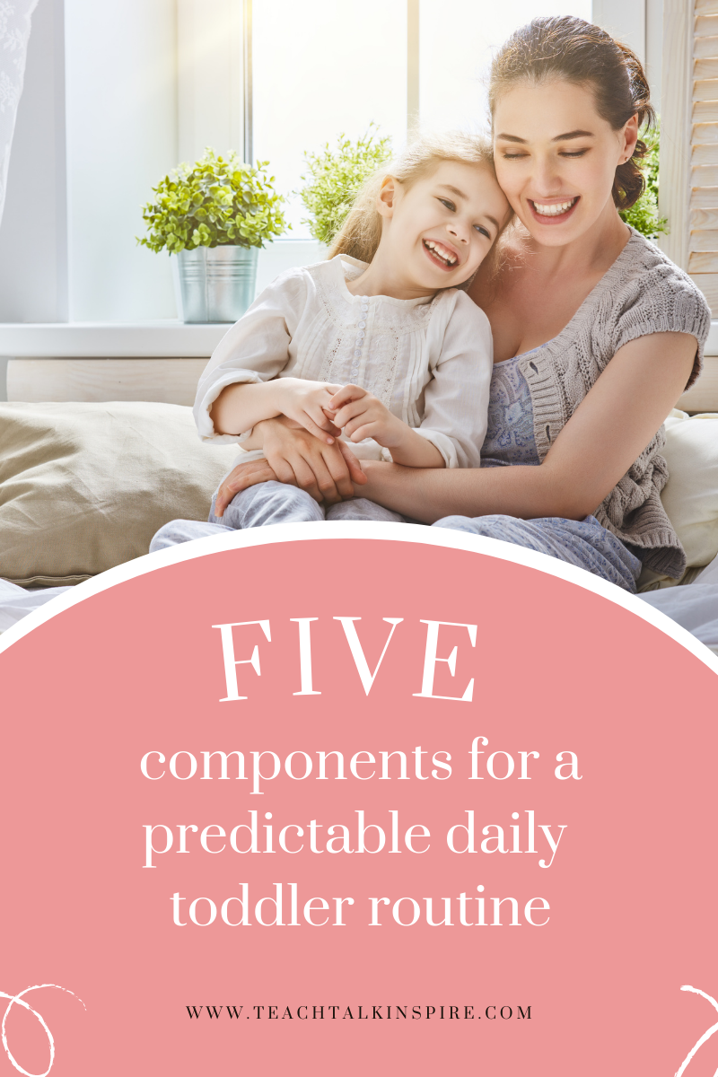 Header for the 5 Components of a Predictable Toddler Routine
