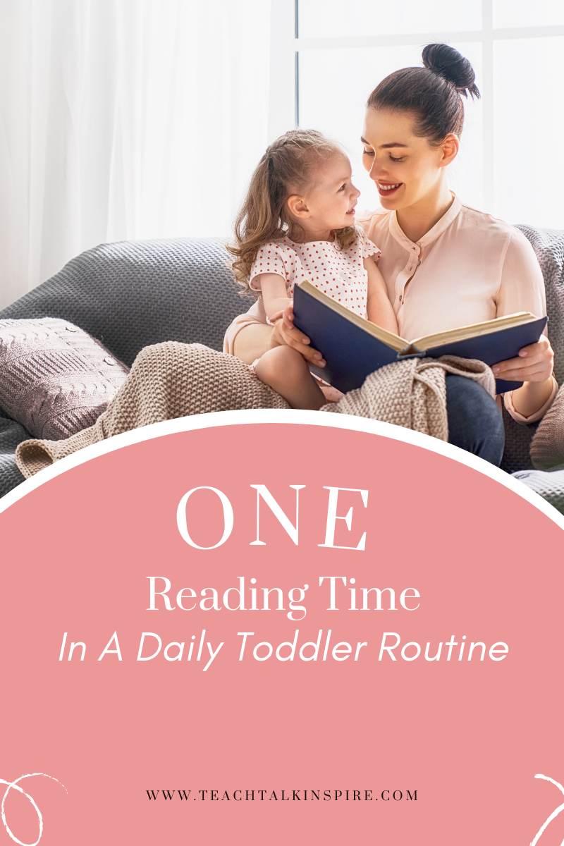 """""""Focused Time In a daily toddler routine"""